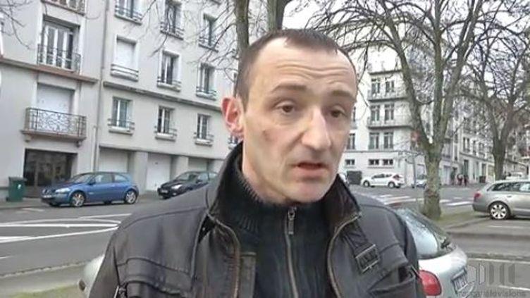 Mikaël Lamour s'est fait voler sa prothèse de course, samedi 28 février, à Brest (Finistère). (BLEUENN LE BORGNE, CHRISTOPHE MOLINA / FRANCE 3 BRETAGNE)