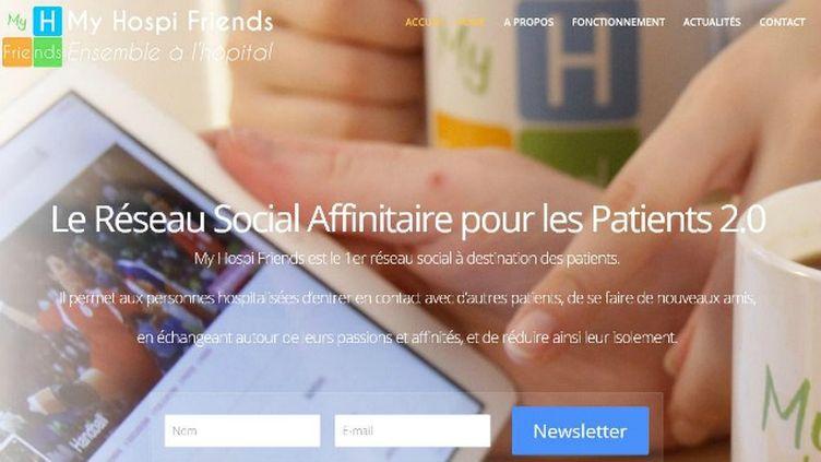 (Le réseau social My Hospi Friends veut connecter les patients hospitalisés entre eux © Capture d'écran du site My Hospi Friends)