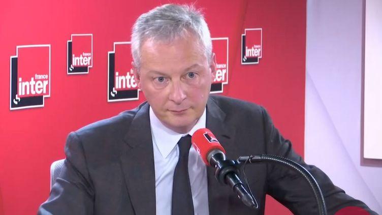 Le ministre de l'Économie, Bruno Le Maire, était l'invité de France Inter le 6 janvier 2020. (FRANCEINTER / RADIO FRANCE)