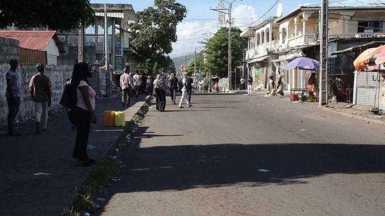 Une rue de Moroni (Comores) est prise en photo le 28 mars 2019. (YOUSSOUF IBRAHIM / AFP)