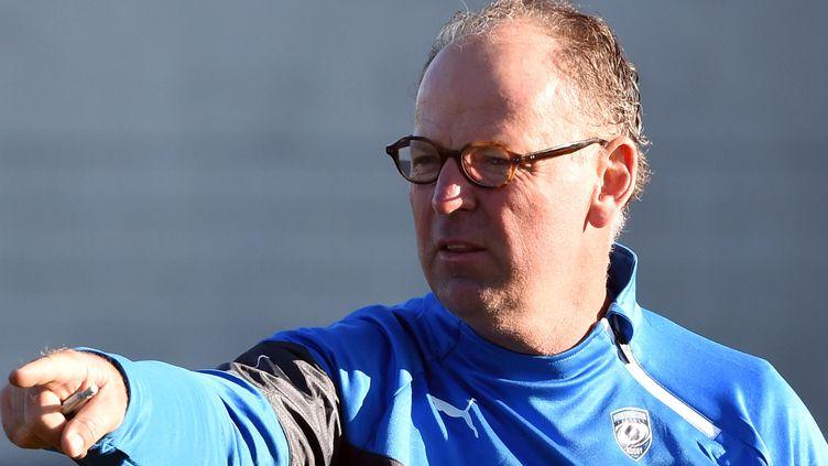 Jake White, l'entraîneur de Montpellier (PASCAL GUYOT / AFP)