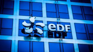 Le logo d'EDF. Photo d'illustration. (GARO / AFP)