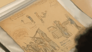 Un dessin d'enfant de 1914 (CAPTURE ECRAN FRANCE 2)