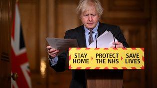 Boris Johnson, le Premier ministre britannique, le lundi 22 février 2021. (LEON NEAL / POOL)