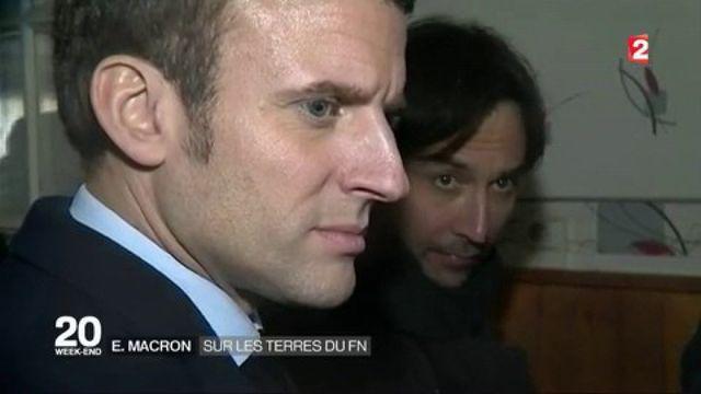 Emmanuel Macron : sur les terres du FN