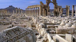 """Palmyre (Syrie) lieu de pillages archéologiques """"à l""""échelle industrielle""""  (Peter Rayner / ZUMA PRESS/MAXPPP)"""