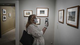 Le musée Jacquemart André à Paris, le 26 mai 2020, jour de sa réouverture. Les visiteurs s'étaient préalablement inscrits. (STEPHANE DE SAKUTIN / AFP)