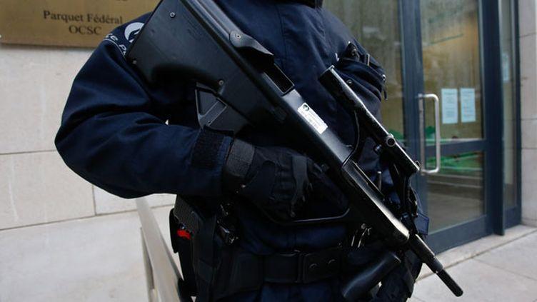 (Le Parquet fédéral de Bruxelles sous bonne garde au lendemain de la fusillade de Forest @ MaxPPP)