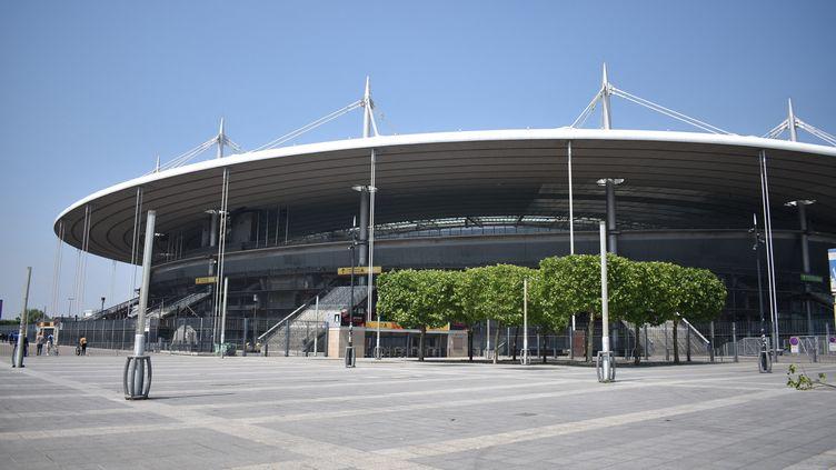 Le Stade de France, à Saint-Denis (Seine-Saint-Denis), en mai 2018. (RÉMI BRANCATO / RADIOFRANCE)