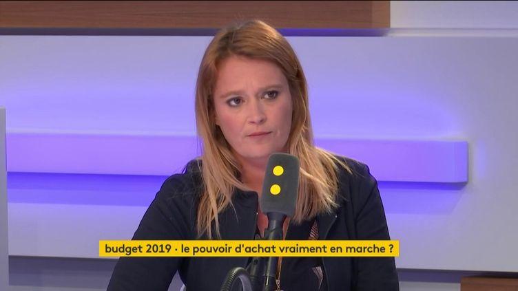 Olivia Grégoire, invitée de l'interview éco mardi 23 octobre 2018. (FRANCEINFO)
