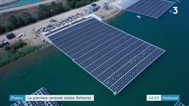 Énergie : la première centrale solaire flottante de France inaugurée dans le Vaucluse