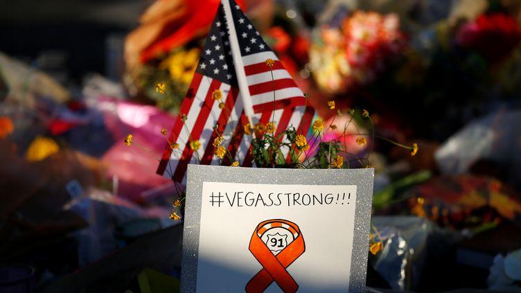 En plus deslieux de mémoire improvisés près du lieu de la fusillade de Las Vegas, un jardin du souvenir a été aménagé par un demi-millier de bénévoles (illustration). (CHRIS WATTIE / X90141 / REUTERS)
