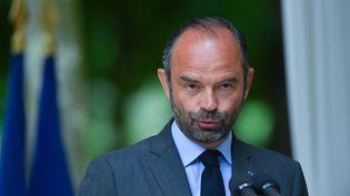 Edouard Philippe lors d'un discours pour la Journée commémorative de l'abolition de l'esclavage, le 10 mai 2018, au jardin du Luxembourg, à Paris. (AVENIR PICTURES / CROWDSPARK / AFP)