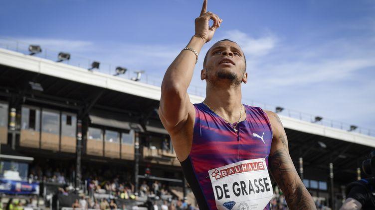 Blessé, André De Grasse ne pourra pas défier Bolt sur 100m à Londres (ANDERS WIKLUND / TT NEWS AGENCY)