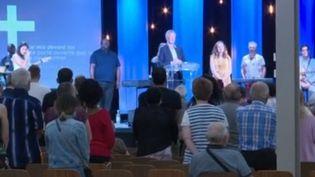 Capture écran reportage rouverture église évangélique Mulhouse (FRANCE 3)