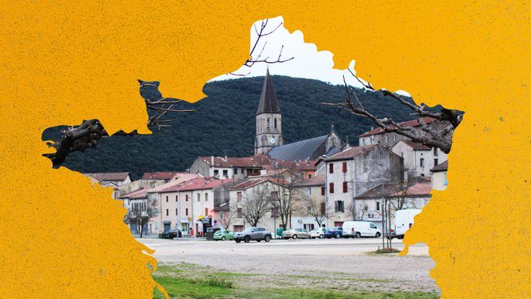 La ville de La Grand-Combe (Gard), en janvier 2020. (AWA SANE / ROBIN PRUDENT / FRANCEINFO)