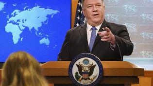 Le chef de la diplomatie américaine, Mike Pompeo, le 10 novembre 2020 à Washington (Etats-Unis). (JACQUELYN MARTIN / POOL / AFP)