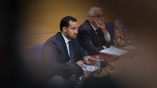 Alexandre Benalla, le 19 septembre 2018 lors de son audition par la commission des lois du Sénat. (MAXPPP)