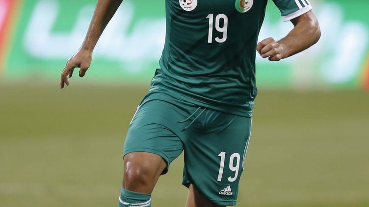 L'international algérien Saphir Taïder (KARIM JAAFAR / AL-WATAN DOHA)
