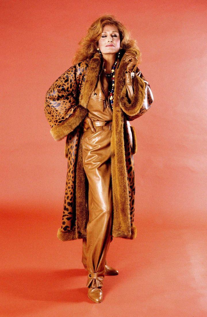 Dalida, top model pour Crhstian Dior (1984)  (UNIMEDIA/SIPA)