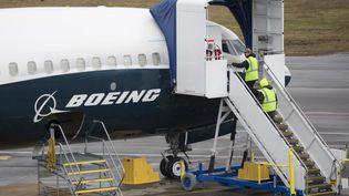 Un avion Boeing 737 Max sur le tarmac de Renton, à Washington, le 12 mars 2019. (JASON REDMOND / AFP)