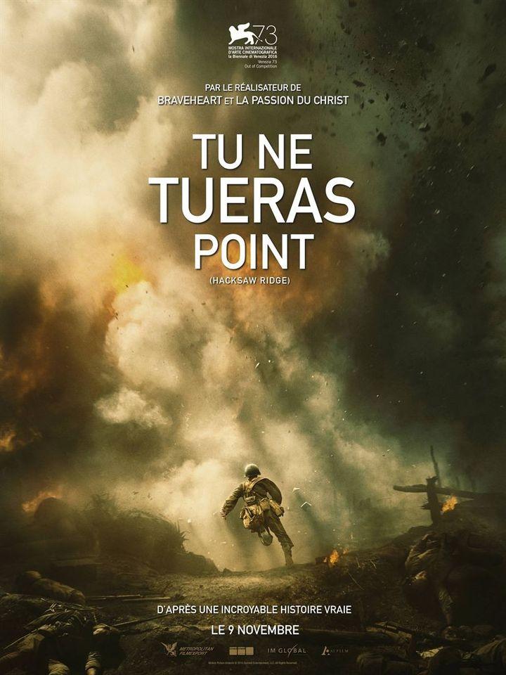 """Tu ne tueras point"" : l'affiche française  (Metropolitan Filmesport)"