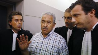 L'ancien bijoutier niçois, Stephan Turk (au centre) est jugé à partir du 28 mai 2018 pour avoir tué l'un de ses braqueurs en septembre 2013 (MAXPPP)