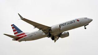 Un avion de la compagnieAmerican Airlines, le 2 décembre 2020. (COOPER NEILL / AFP)