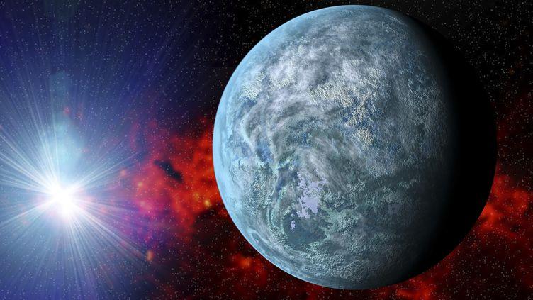 L'exoplanète Kepler-20f, dessinée par ordinateur. (AFP)