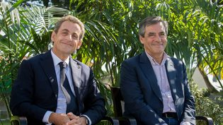 Nicolas Sarkozy et François Fillon à La Baule en septembre 2015 (MAXPPP)