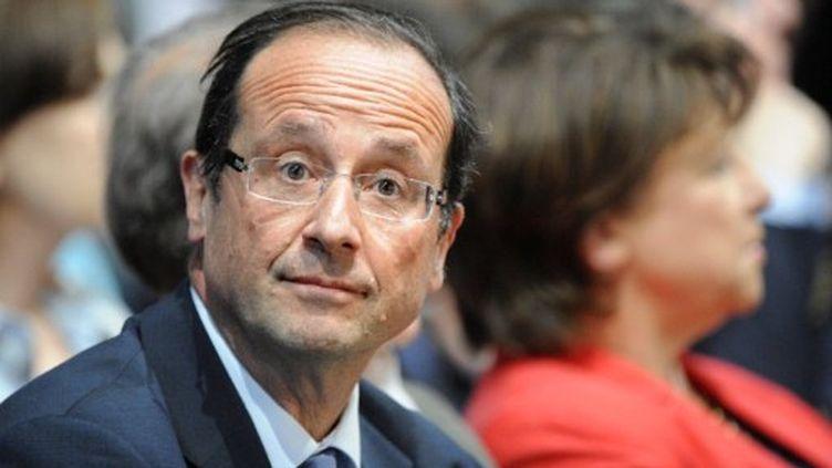 François Hollande, lors de la convention nationale du PS, à Paris, le 29 mai 2011 (AFP/BERTRAND GUAY)