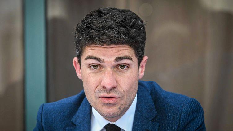 Le député LR du Lot, Aurélien Pradié, le 20 mai 2021. (MIKAEL ANISSET / MAXPPP)