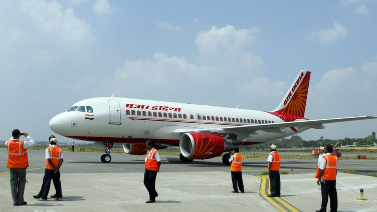 Un Boeing d'Air India, le 15 octobre 2008, àHyderabad (Inde). (NOAH SEELAM / AFP)