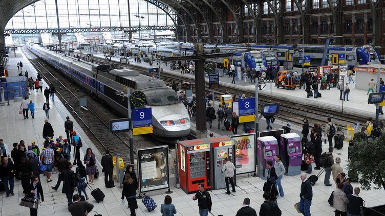 Le hall de la gare de Lille-Flandres (Nord), en juin 2011. (MAXPPP)