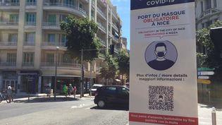 Le port du masque est obligatoire dans toute la ville de Nice (Alpes-Maritimes) (ROMAIN BERCHET / FRANCE-BLEU AZUR)
