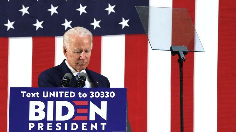 Le prétendant démocrate à la Maison Blanche Joe Biden, le 30 juin 2020 à Wilmington, dans le Delaware (Etats-Unis). (ALEX WONG / GETTY IMAGES NORTH AMERICA / AFP)