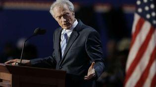 Clint Eastwood s'adressant à une chaise vide à la convention républicaine (Tampa, Floride, 30 août 2012)  (Lynne Sladky/AP/SIPA)