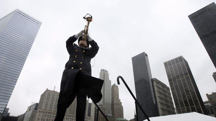 Cérémonies de commémoration des attentats à New York le 11 septembre 2009. (CHANG W.LEE / POOL / MAXPPP)