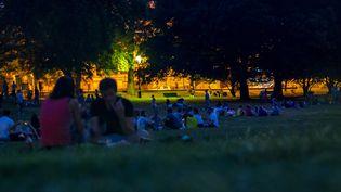 Un parc la nuit en période de chaleur (illustration). (BRUNO LEVESQUE / MAXPPP)