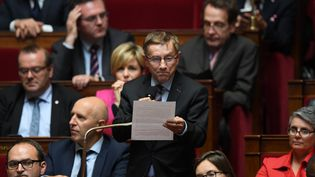 Le député Nouvelle Gauche Joaquim Pueyo, à l'Assemblée nationale le 3 octobre 2017. (CHRISTOPHE ARCHAMBAULT / AFP)