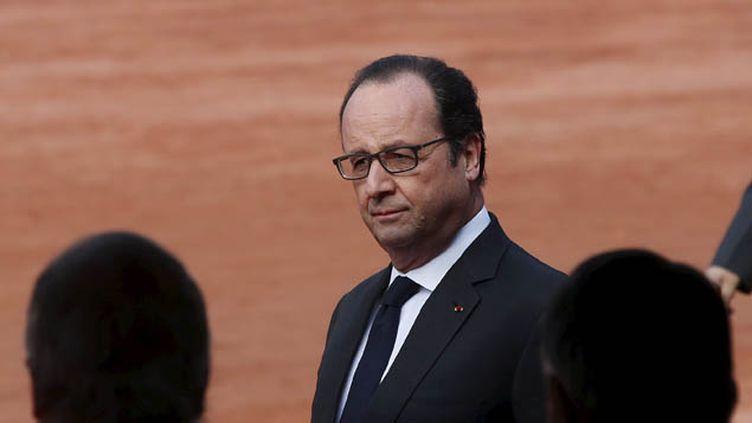 (C'est depuis l'Inde que François Hollande a réagi à une vidéo attribuée à Daech © Reuters / Adnan Abidi)
