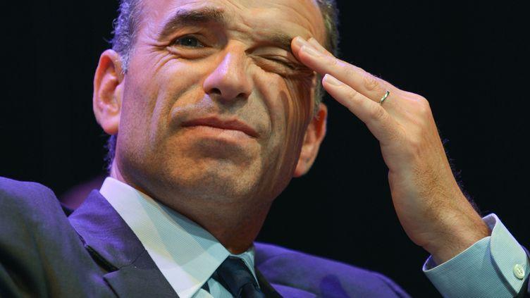 Le président de l'UMP Jean-François Copé, le 20 mai 2014, à Jaunay-Clan (Vienne). (GUILLAUME SOUVANT / AFP)