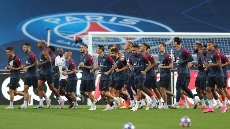 Les joueurs du PSG à l'entraînement (MIGUEL A. LOPES / AFP)