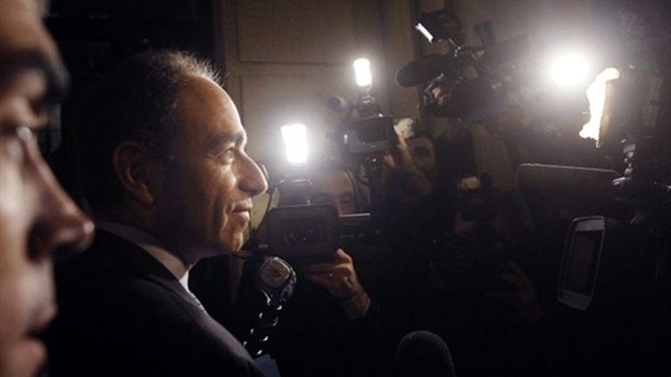 Jean-François Copé arrivant au siège de l'UMP (AFP/Joël Saget)