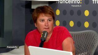 """""""On ne quittera pas la rue"""", prévient Céline Verzeletti, secrétaire confédérale de la CGT. (FRANCEINFO / RADIOFRANCE)"""