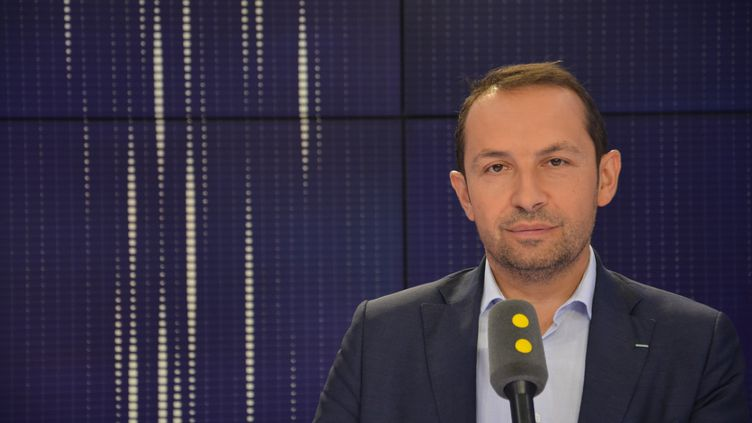 Sébastien Chenu, porte-parole du Rassemblement national. (JEAN-CHRISTOPHE BOURDILLAT / RADIO FRANCE)