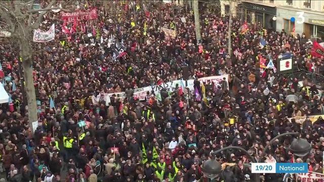 Grève du 17 décembre : 615 000 manifestants dans toute la France, 1,8 million selon la CGT