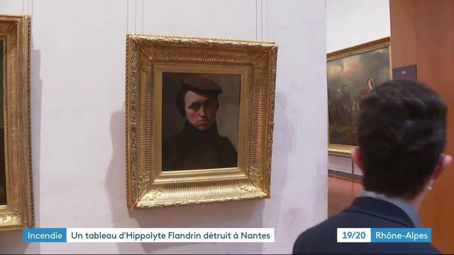 Portrait peintre lyonnais Hippolyte Flandrin