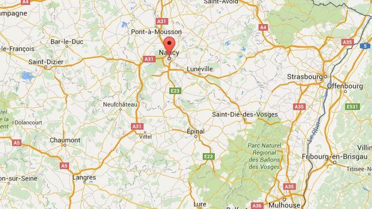 Les faits ont eu lieu vers 9h20, dans un quartier réputé calme proche du centre-ville, à quelques centaines de mètres de la gare de Nancy. (GOOGLE MAPS / FRANCETV INFO)