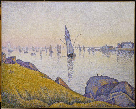 "Paul Signac, ""Concarneau. Calme du soir (allegro maestoso). Opus 220"", 1891. Huile sur toile, 64,8 cm x 81,3 cm. New York, The Metropolitan Museum of Art, The Robert Lehman Collection, 1975.1.209. (2013 DIGITAL IMAGE, THE MUSEUM OF MODERN ART, NEW YORK/SCALA, FIRENZE)"